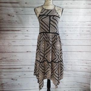 NWOT Xhilaration black/tan hankerchief dress
